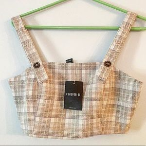 NWT Forever 21 Plaid Crop Top